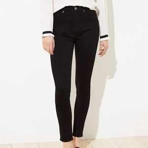 Loft black  women's jeans high rise, skinny
